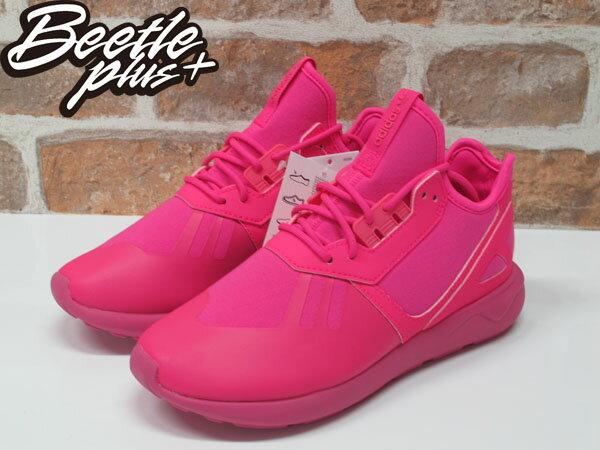 女生BEETLE ADIDAS TUBULAR RUNNER K 愛迪達 粉紅 純色 Y-3平民版 慢跑鞋 S78726 1