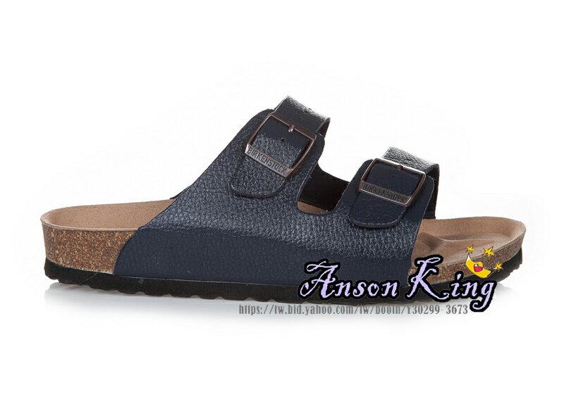 [Anson King]Outlet正品代購  birkenstock Arizona系列 男女款 懶人涼拖鞋 深藍裂紋 0