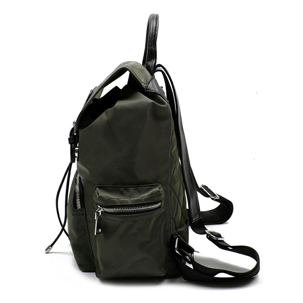 【BEIBAOBAO】倫敦學院防水布配真皮後背包(共兩色:時尚黑) 3