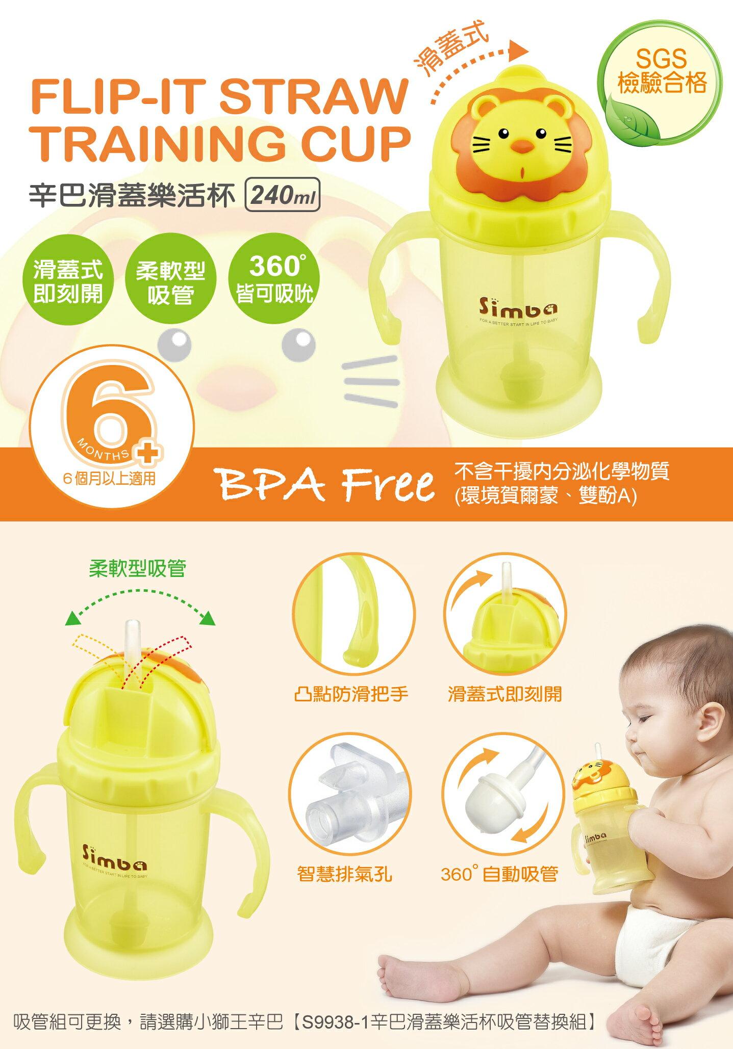 『121婦嬰用品館』辛巴 滑蓋樂活杯 2