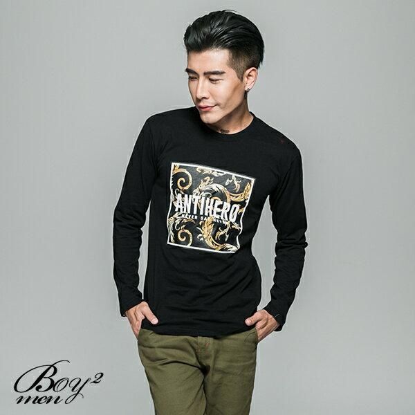 ☆BOY-2☆【JJ701】韓風ANTIHERO印花長T恤 3