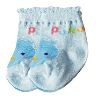 『121婦嬰用品館』PUKU 花邊初生襪(0-12m) - 藍 0