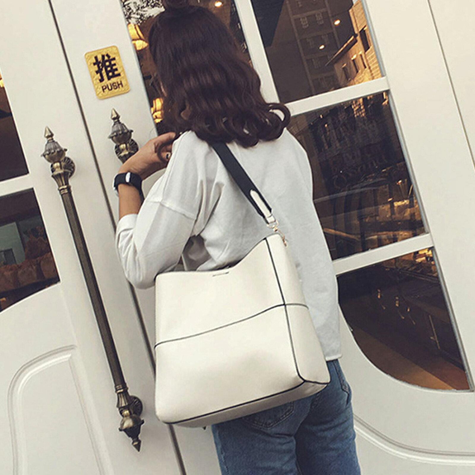側背包  韓質感皮革大容量子母包【O3165】☆雙兒網☆ 3