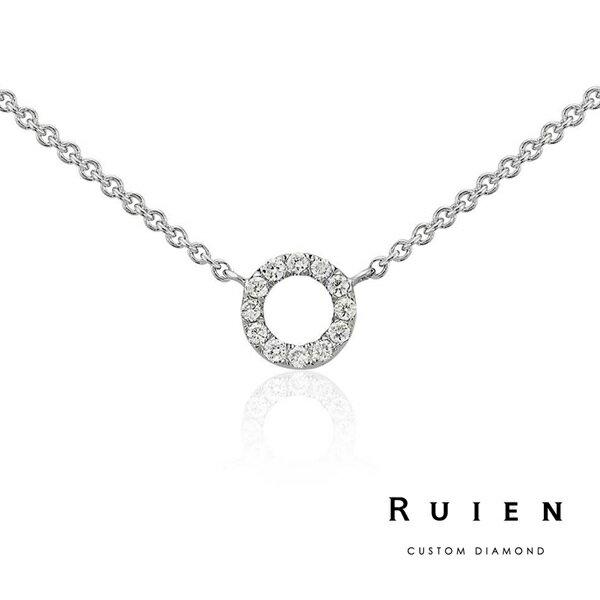 14K白金 推薦款 墜子項鍊 輕珠寶鑽石項鍊 RUIEN 瑞恩珠寶