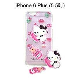 Hello Kitty 拭鏡貼透明軟殼 [甜點粉] iPhone 6 Plus 5.5吋【三麗鷗正版授權】