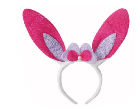 X射線【W418037】蝴蝶雙色兔耳髮圈,萬聖節/派對用品/舞會道具/cosplay服裝/角色扮演/兔女郎/表演/情趣/園遊會/校慶
