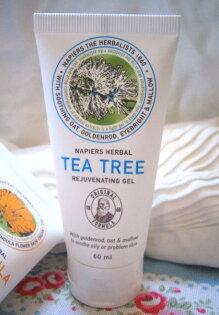 *Realhome*英國百年天然老牌 napiers 茶樹草本凝膠60m 最新包裝 預購