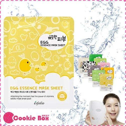 韓國 韓製 保養 品牌 esfolio 高效 精華 面膜 mask korea 13元 (25ml/單片) *餅乾盒子*