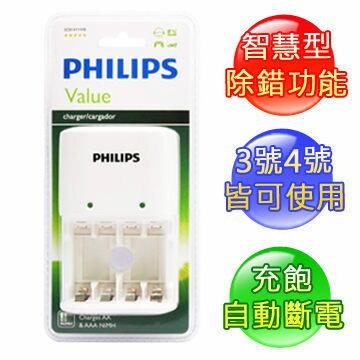 {光華成功NO.1}PHILIPS 飛利浦 SCB1411WB 白 經濟型鎳氫電池充電器  喔!看呢來