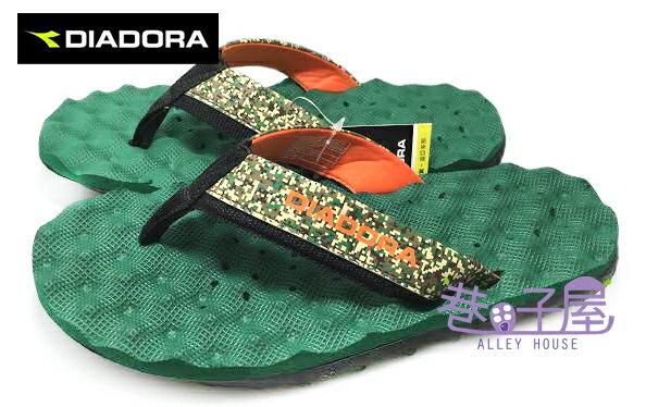 ~巷子屋~義大利國寶鞋~DIADORA迪亞多納 男款迷彩排水 拖鞋 ^~9995^~ 綠
