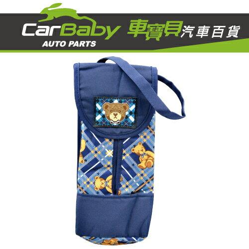 【車寶貝推薦】熊熊格紋吊式面紙套 F101