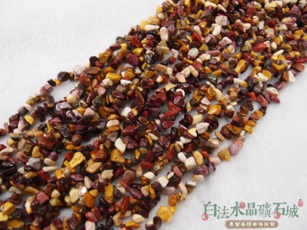 白法水晶礦石城 天然-蛋黃石/莫哥石 6mm至9mm 礦質 串珠/條珠 首飾材料(一件不留出清五折區)