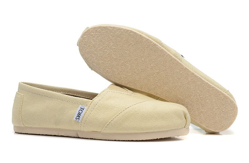 【TOMS】米色素面基本款休閒鞋  Natural Canvas Women's Classics 4