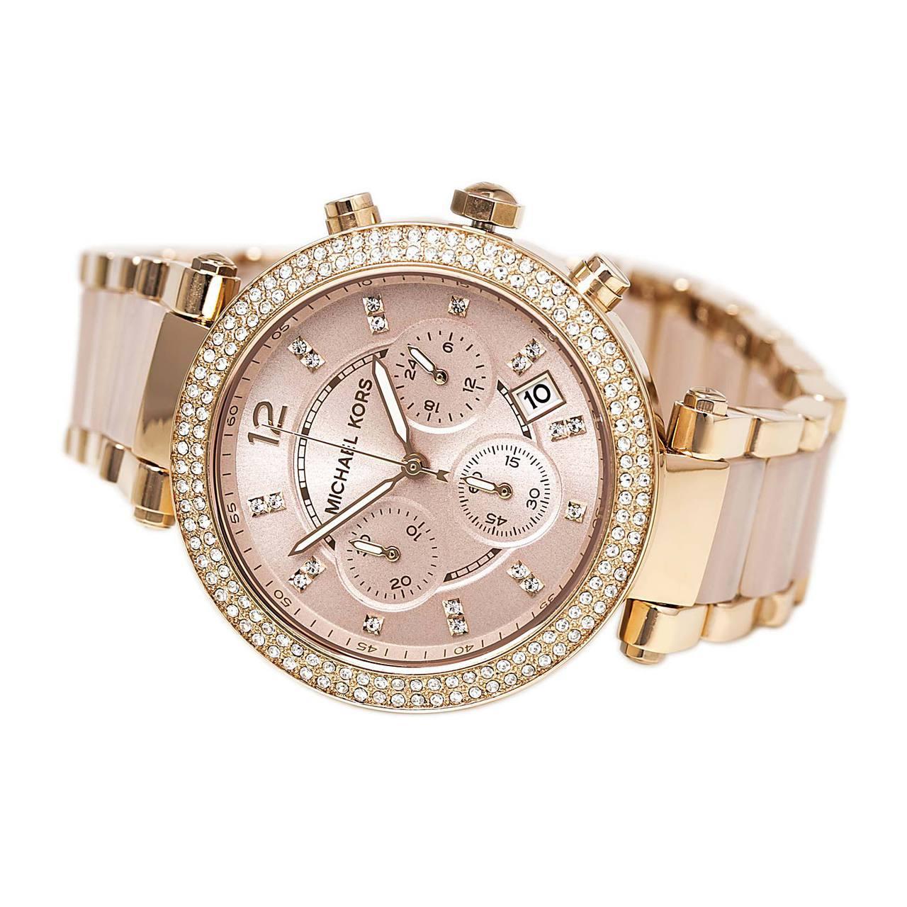 【限時8折 全店滿5000再9折】MichaelKors MK 粉玫瑰金 水鑽  陶瓷  三環 手錶 腕錶 MK5896 美國Outlet正品代購 4