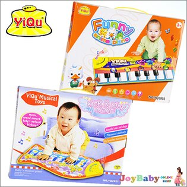 電子鋼琴/兒童多功能音樂遊戲毯/ 動物手指觸摸式玩具地毯【JoyBaby】