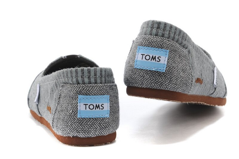 [女款] 國外代購TOMS 帆布鞋/懶人鞋/休閒鞋/至尊鞋 絨面系列  鬍子條紋 3