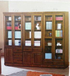 【尚品傢俱】477-01 香樟半實木3X7三抽書櫃(另有中抽、下抽)