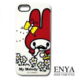 IPhone5S 三麗鷗 MELODY逗趣巧鬍子 手機硬殼 Enya恩雅^(郵寄^)