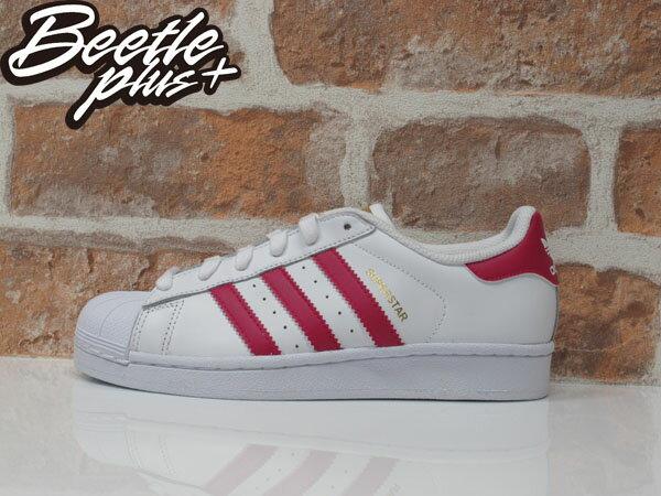女生 BEETLE SUPERSTAR FOUNDATION J 愛迪達 金標 白粉 桃紅 復古 休閒鞋 B23644 0