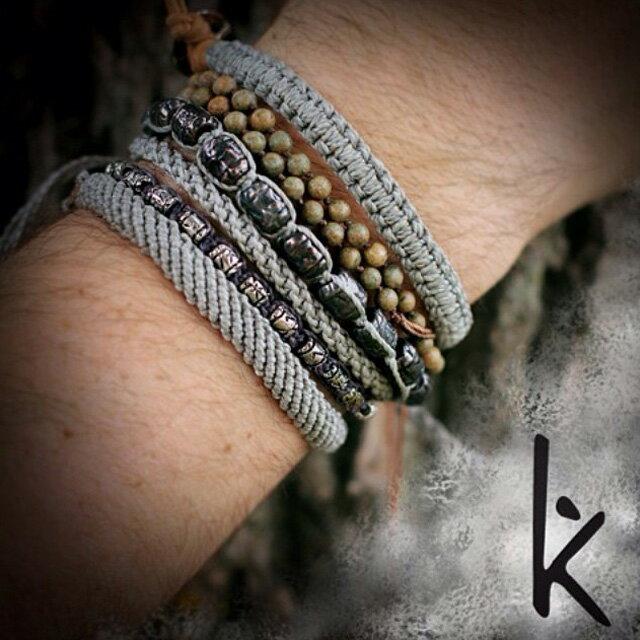 【現貨商品】【wakami】讚頌愛情灰色編織手環(WA0531-02  0678870000) 1