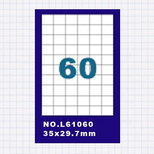 【OKIN】(20包)A4標籤貼紙6欄10列 / 50張入 四邊直角 雷射.噴墨.點距陣各式 列表機專用 標籤貼紙No.L61060