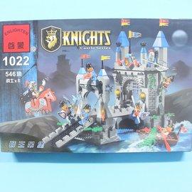啟蒙積木 1022 獅王吊堡積木 中古世紀獅王城堡騎士系列 約546片入/一盒入{促1300}~跟樂高一樣好玩喔!