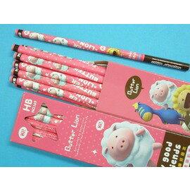 奶油獅好朋友鉛筆NO.169 HB三角塗頭鉛筆(粉色版.雪花豬)12支入/一小盒{定60}
