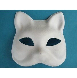 DIY貓頭彩繪面具.空白面具/一個入{定40}