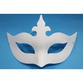 半罩十字面具 彩繪面具 空白面具 紙漿面具 DIY面具(附鬆緊帶)/一個入{定40}