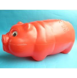 特大豬撲滿.不透明豬撲滿/紅色MIT製(不透明.長型)/一個{特90}
