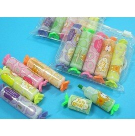 5色螢光筆 TF-104 天福迷你糖果造型水果香螢光筆組(PVC袋)/一小組入{促35}