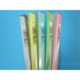 A4資料簿.PP資料本.資料夾/果凍色板40入(80頁)SD40GA(無內紙)MIT製/{120}一箱 12本入