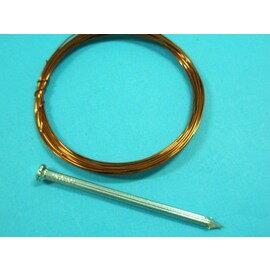 漆包線.銅線 教學用漆包線(附鋼釘)直徑1mm/{定}一袋/ 12組入