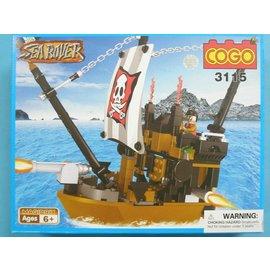 COGO積高積木 3115 海盜船積木 可與樂高混拼(中) 約168片/一盒入{促350}~CF111303~
