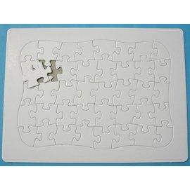 加厚空白拼圖 彩繪拼圖 DIY拼圖27.8cm x 20.7cm(小40片.超厚)/一個入{定30}