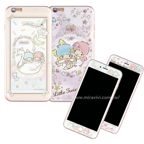 【Sanrio 】iPhone 6/6s 雙面強化玻璃彩繪保護貼-kikilala