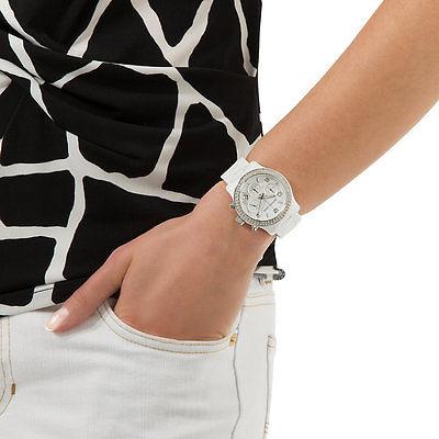 【MICHAEL KORS】正品 簡約時尚躍動三眼計時陶瓷腕錶 MK5188 白 2