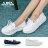 格子舖*【KW8802】MIT台灣製 簡約百搭皮革材質 3CM厚底綁帶休閒鞋 帆船鞋 2色 0