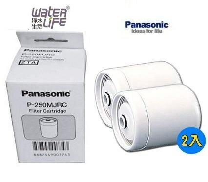 【淨水生活】《 Panasonic 國際牌》【公司貨】P-250MJRC / P250MJRC 電解水機專用濾心(2入) 日本原裝進口 (PJ-250MR/PJ250MR 濾水器)