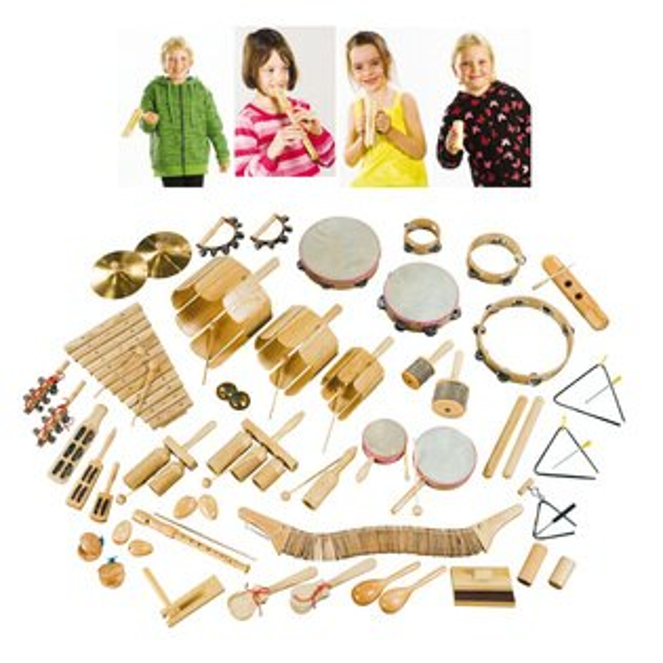 【華森葳兒童教玩具】樂器教具系列-木製打擊樂器組 H3-DMMH2