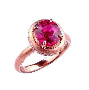 ~樂采珠寶~14K玫瑰金 滿滿-紅寶碧璽戒指.