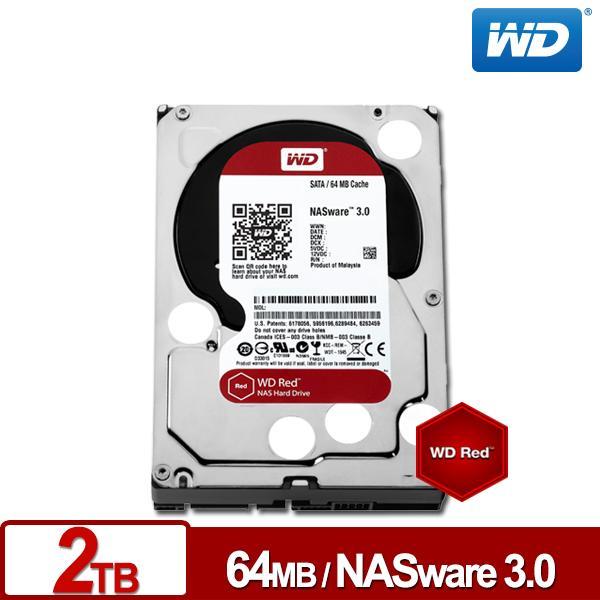 ★綠G能★全新免運★ WD20EFRX 紅標 2TB 3.5吋NAS硬碟(NASware3.0) 3年保固 請先詢問貨源