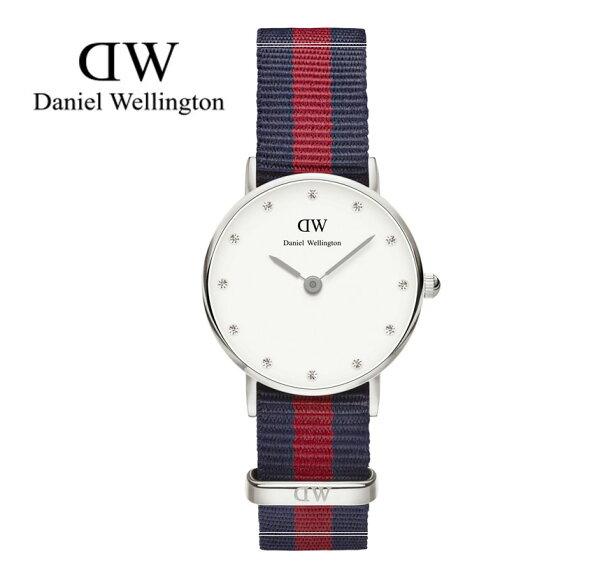 瑞典正品代購 Daniel Wellington 0925DW 銀 玫瑰金 尼龍 帆布錶帶 女錶手錶腕錶 26MM