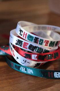 【Crystal Rose緞帶專賣店】塗鴉聖誕(雙面緞帶)