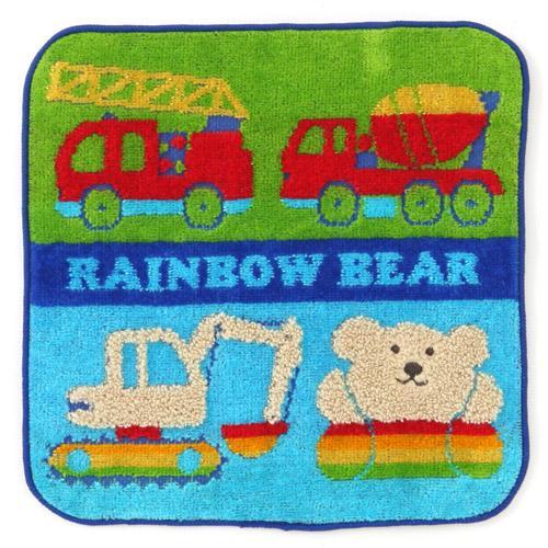 *最新品上市*日本製~日本空運來台 RAINBOW BEAR 彩虹熊 20*20小方巾