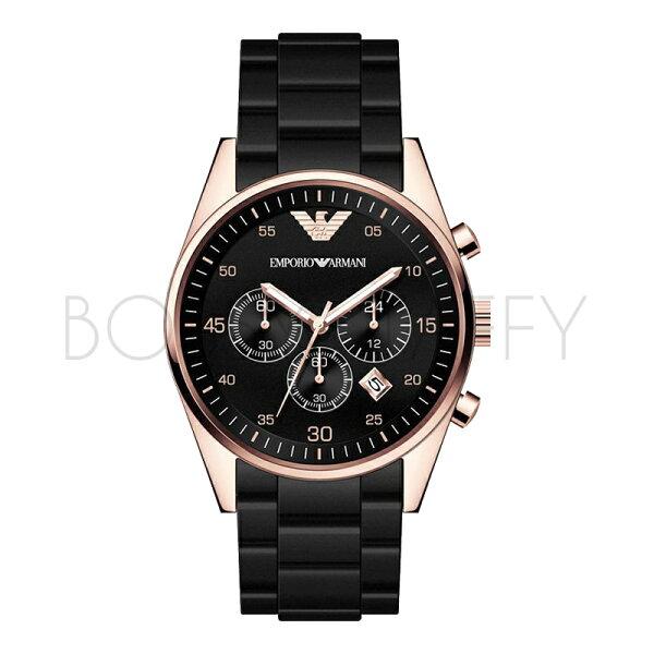 AR5905 AR5906 ARMANI 亞曼尼 橡膠鋼帶多功能日歷石英錶 情侶對錶