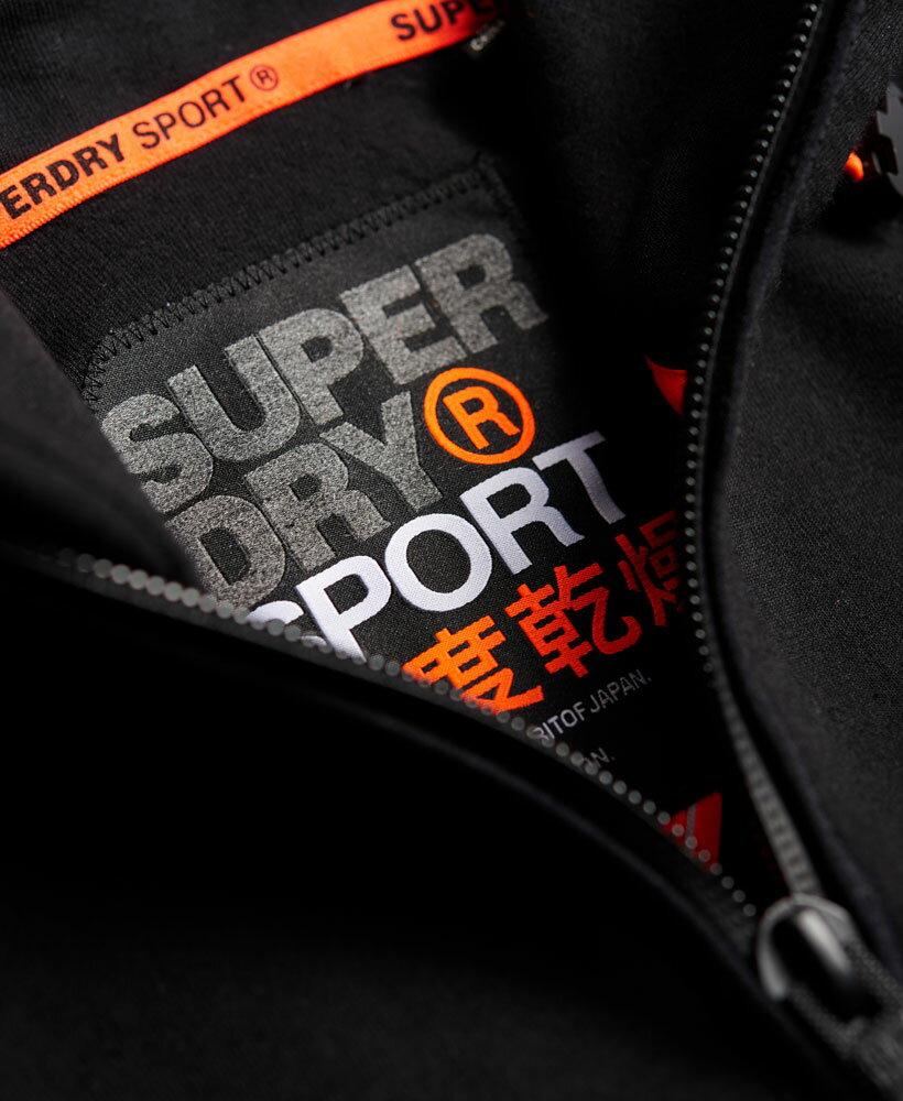 [男款] 英國名品 代購 極度乾燥 Superdry Gym Tech Panel 拉鍊運動男士戶外休閒連帽外套 黑色 4