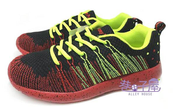 【巷子屋】JIMMY POLO 男款編織造型輕量運動慢跑鞋 [13025] 黑紅 超值價$398