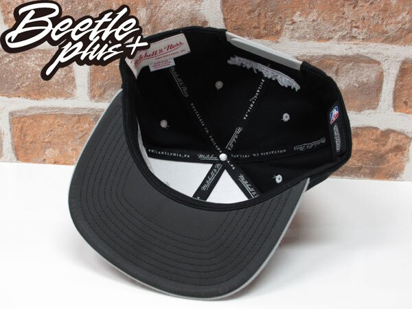 BEETLE PLUS MITCHELL&NESS NBA SAN ANTONIO SPURS 聖安東尼奧 馬刺 LOGO 黑灰 3M 反光 TIM DUNCAN 鄧肯 石佛 SNAPBACK 帽 後扣棒球帽 1
