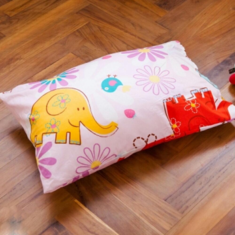 枕頭 兒童枕~防蹣抗菌纖維枕 精梳棉 心心象印 美國棉 品牌^~鴻宇^~ 製~1851